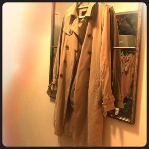 J Crew Classic Trench Coat size 00